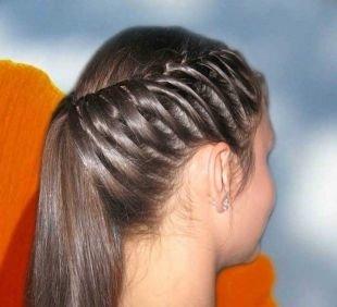 Прическа колосок на длинные волосы, романтическая прическа в школу