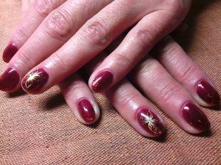 Рисунки акриловыми красками на ногтях, маникюр на корпоратив