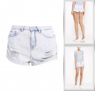 Горчичные шорты, шорты джинсовые topshop, весна-лето 2015