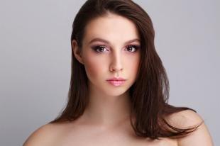 Свадебный макияж с фиолетовыми тенями, макияж на выпускной для карих глаз
