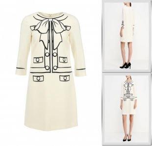 Молочные платья, платье boutique moschino, осень-зима 2015/2016