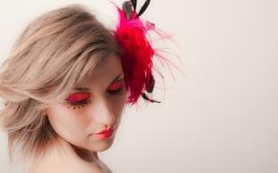 Креативный макияж, розовый макияж глаз