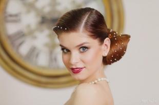 Свадебный макияж для серо-голубых глаз, свадебный макияж для рыжих волос