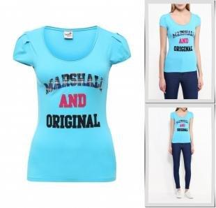 Бирюзовые футболки, футболка marshall original, весна-лето 2016