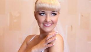 Свадебный макияж в серых тонах, свадебный макияж для голубых глаз в технике смоки айс