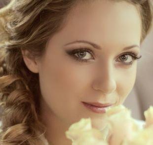 Свадебный макияж в серых тонах, свадебный макияж для зеленых глаз в приглушенной гамме