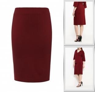 Бордовые юбки, юбка contraposto,