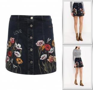 Джинсовые юбки, юбка джинсовая river island, осень-зима 2016/2017