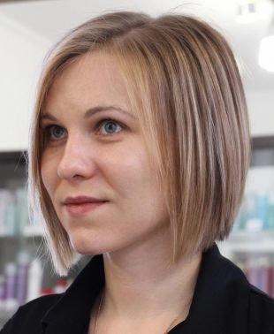 Цвет волос бежевый блондин на короткие волосы, мелирование на светлые волосы - классическая техника