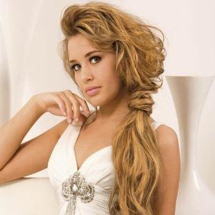 """Медово карамельный цвет волос на длинные волосы, прическа в стиле """"бохо"""" на длинные волосы"""