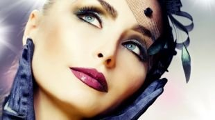 Макияж в стиле Чикаго, винтажный макияж для серо-голубых глаз