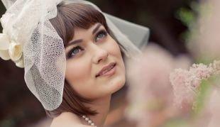 Макияж для брюнеток с голубыми глазами, трогательный свадебный макияж для голубых глаз