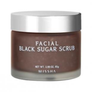 Домашний скраб для лица от черных точек, missha facial black sugar scrub (объем 85 мл)