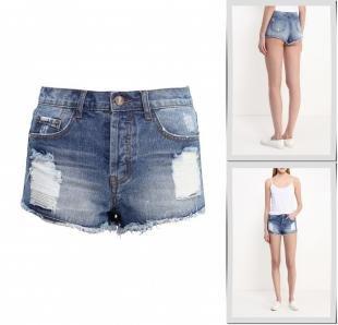 Синие шорты, шорты джинсовые glamorous, весна-лето 2016