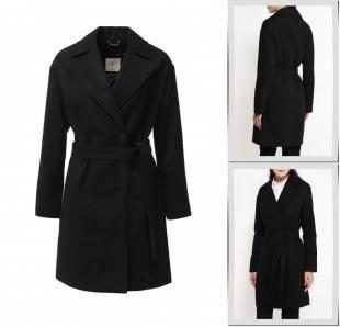 Черные пальто, пальто sela, осень-зима 2016/2017