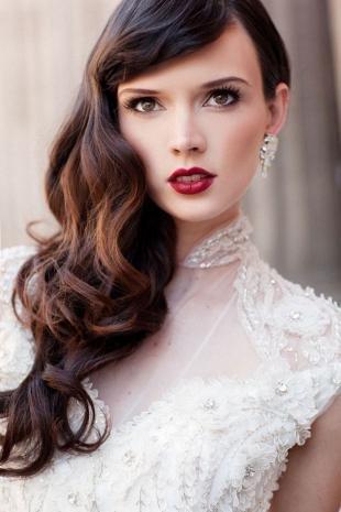 Свадебный макияж с челкой, сексапильный свадебный макияж