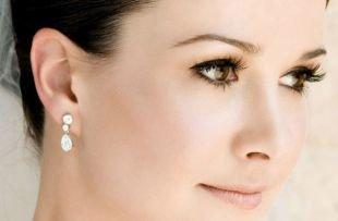 Естественный макияж для карих глаз, свадебный макияж для брюнеток с карими глазами
