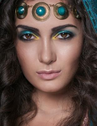 Восточный макияж для карих глаз, мейкап в восточном стиле