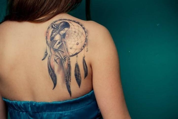 Татуировка для девушек - ловец снов