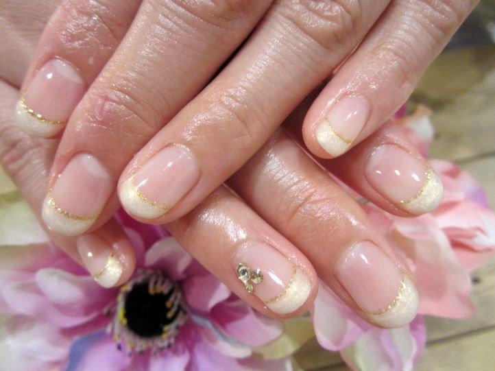 Французский маникюр (френч) на коротких ногтях, фото 14