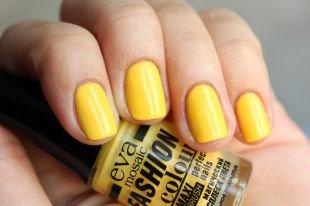 Желтый маникюр, летний желтый маникюр