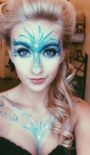 Макияж для зимней фотосессии, макияж снежной королевы