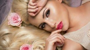 Нежный свадебный макияж, свадебный макияж для блондинок