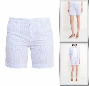 Голубые шорты, шорты sela, весна-лето 2016