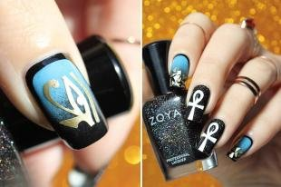 Египетские рисунки на ногтях, египетский дизайн ногтей