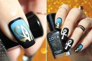 Египетские рисунки на ногтях