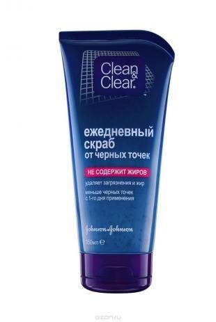 Скраб Clean Clear, clean&clear ежедневный скраб для лица, от черных точек, 150 мл
