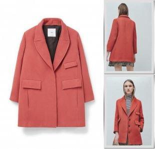 Коралловые пальто, пальто mango, весна-лето 2016