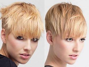 Соломенный цвет волос на короткие волосы, актуальные стрижки для тонких волос