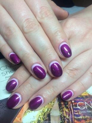 Сиреневый маникюр, фиолетовый лунный маникюр