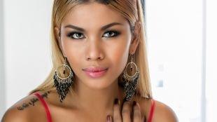 Темный макияж для блондинок, макияж для азиатских глаз