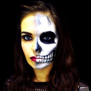 Макияж для голубых глаз на хэллоуин, незабываемый образ на хэллоуин с зомби-макияжем