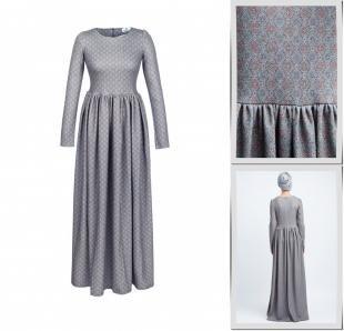 Серые платья, платье bella kareema,