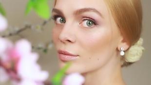 Макияж для впалых глаз, легкий макияж на весну