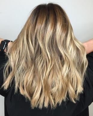 Балаяж на русые и светлые волосы - 14 фото