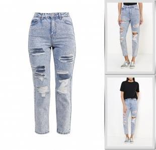 Голубые джинсы, джинсы topshop, осень-зима 2016/2017