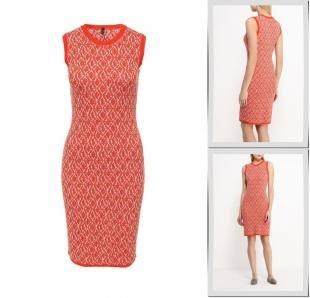 Оранжевые платья, платье united colors of benetton, весна-лето 2016