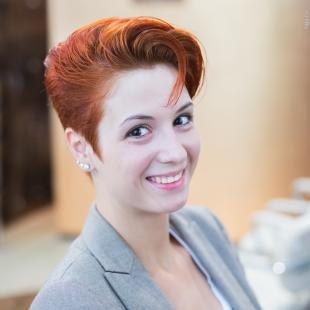 Медный цвет волос на короткие волосы, ярко-рыжий цвет волос