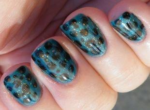 Рисунки гель лаком на ногтях, маникюр шеллак в леопардовом стиле
