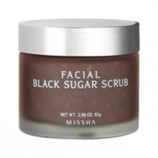 Скраб от черных точек с сахаром, missha facial black sugar scrub (объем 85 мл)