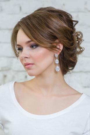 Вечерний макияж для серо-голубых глаз, свадебный макияж для серых глаз и каштановых волос