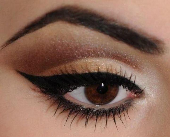 Нежные свадебные стрелки - макияж для карих глаз